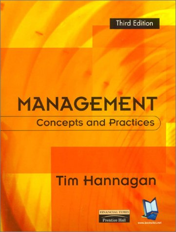 9780273651895: Management: Concepts & Practices