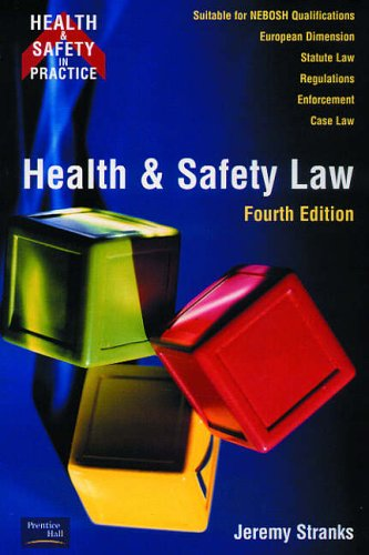 9780273654520: Health and Safety Law (Health & Safety in Practice)