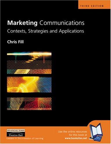 9780273655008: Marketing Communications (3rd Edition)
