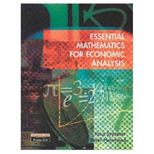 9780273655435: Essential Mathematics for Economic Analysis