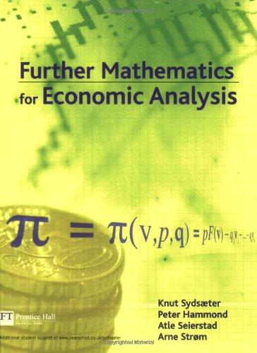 9780273655763: Further Mathematics for Economic Analysis