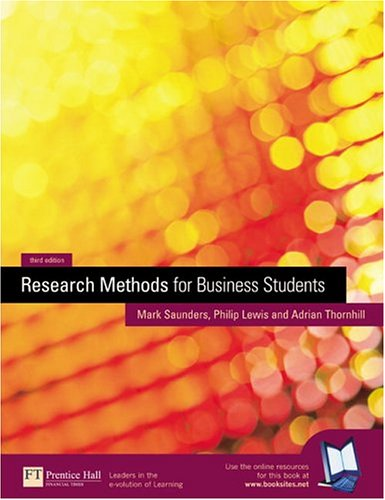 9780273658047: Research Methods for Business Students (3rd Edition)