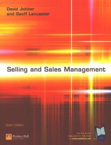 9780273674153: Selling & Sales Management