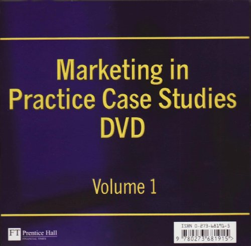 9780273681915: Marketing in Practice Case Studies: v. 1
