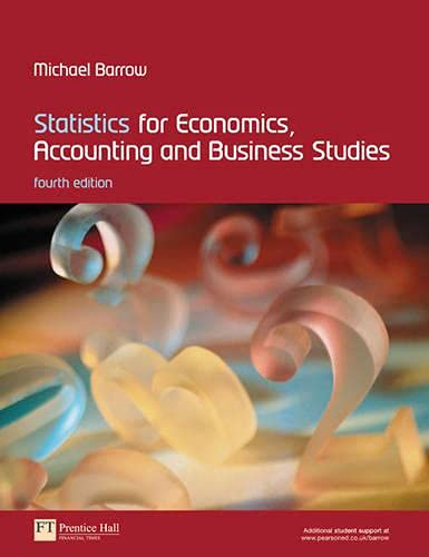 9780273683087: Statistics for Economics, Accounting And Business Studies