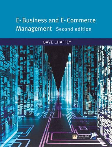 9780273683780: E-Business and E-Commerce (2nd Edition)