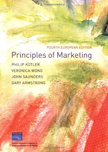 Principles of Marketing: Kotler, P et
