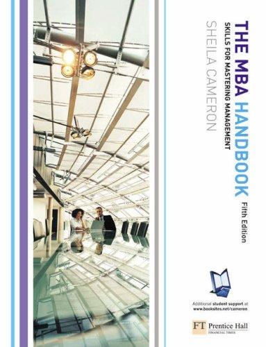 9780273684671: The MBA Handbook: Skills for Mastering Management