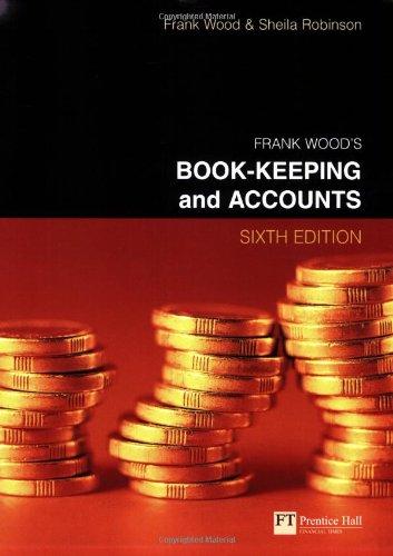 Frank Wood's Book-Keeping & Accounts (Ex 0273646192): Frank Wood, Sheila
