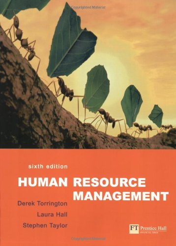 Human Resource Management (9780273687139) by Derek Torrington; Laura Hall; Stephen Taylor