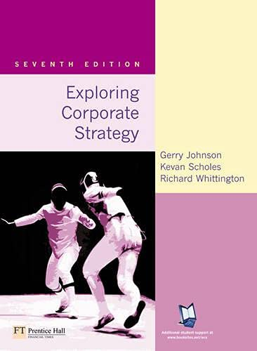 9780273687399: Exploring Corporate Strategy: Text Only (7th Edition)