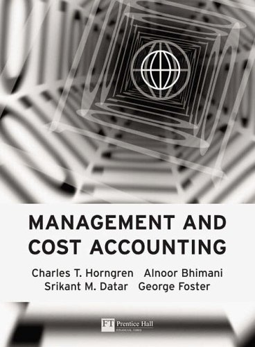 9780273687511: Management And Cost Accounting
