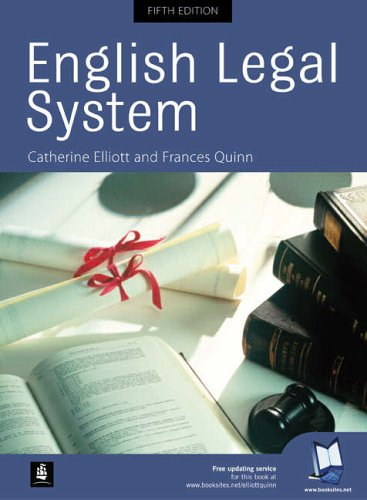 9780273687559: English Legal System