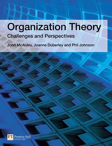 9780273687740: Organization Theory: Challenges and Perspectives