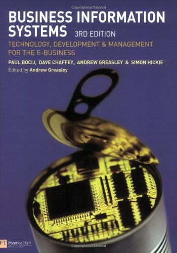 9780273688143: Business Information Systems: Technology, Development and Management for the E-Business