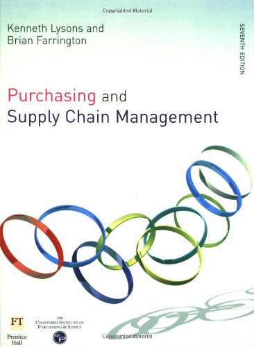 Purchasing and Supply Chain Management: Lysons, Dr Kenneth