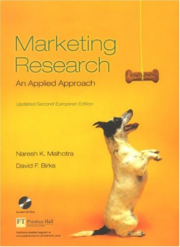 9780273695301: Marketing Research: Updated: An Applied Approach