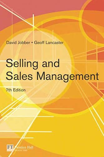 9780273695790: Selling and Sales Management (7th Edition)
