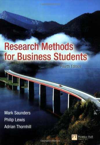 9780273701484: Research Methods for Business Students (4th Edition)