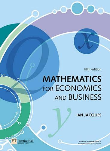 Mathematics for Economics and Business: Mr Ian Jacques