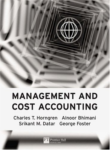 9780273703280: Management & Cost Accounting: Professional Question Supplement