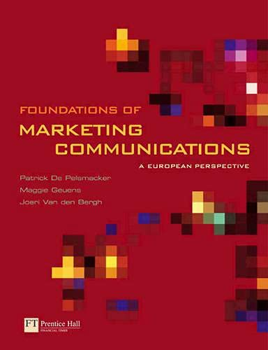 9780273703860: Foundations of Marketing Communications: A European Perspective