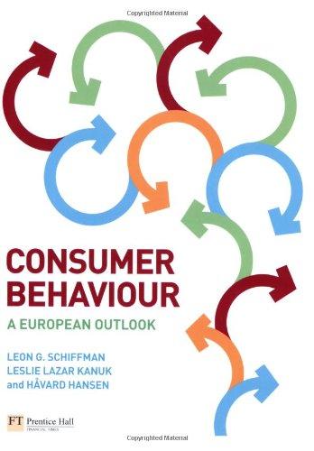 Consumer Behaviour: A European Outlook: Schiffman, Leon G.,