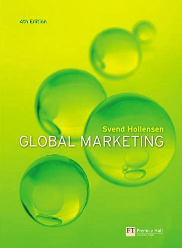 9780273706786: Global Marketing: A Decision-Oriented Approach (4th Edition)