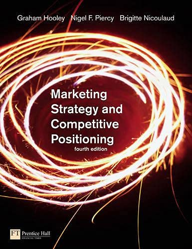 9780273706977: Marketing Strategy and Competitive Positioning