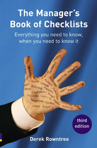 9780273707011: Manager's Book of Checklists: everything you need to know, when you need to know it (3rd Edition)