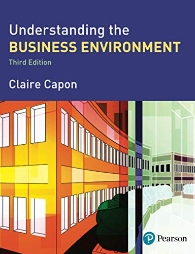 9780273708148: Understanding the Business Environment (3rd Edition)