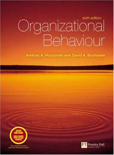 9780273708353: Organizational Behaviour: An Introductory Text