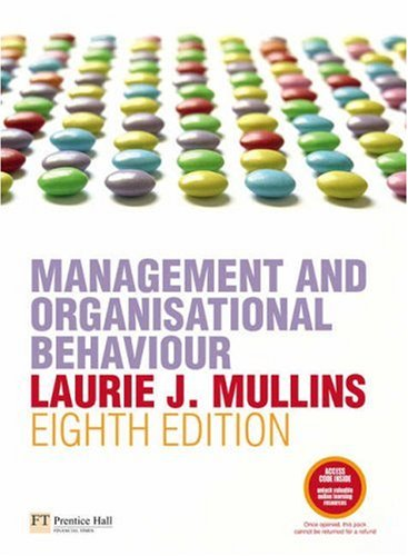 9780273708889: Management and Organisational Behaviour