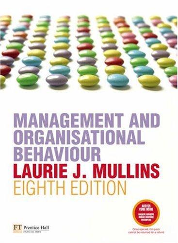 9780273708889: Management and Organisational Behaviour