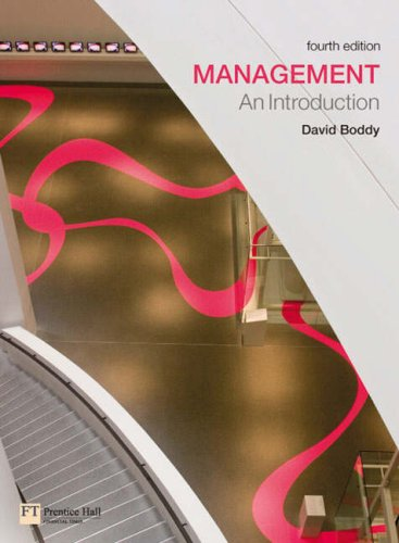 9780273711063: Management: An Introduction