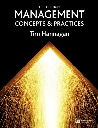 9780273711186: Management: Concepts & Practices (5th Edition)