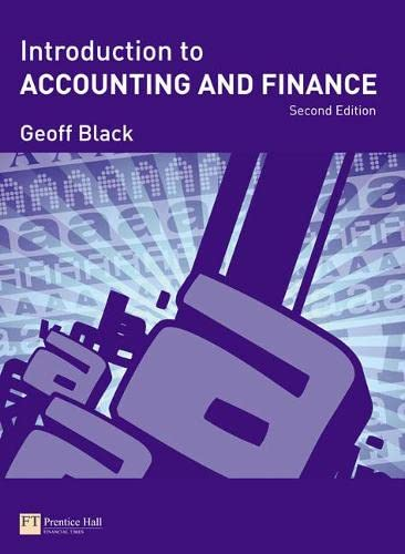 9780273711629: Introduction to Accounting and Finance 2e
