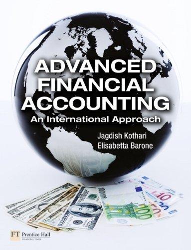 9780273712749: Advanced Financial Accounting: An International Approach