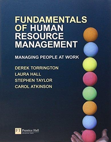 Fundamentals of Human Resource Management: Managing People: Torrington, Derek &