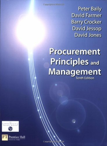 9780273713791: Procurement, Principles & Management (10th Edition)