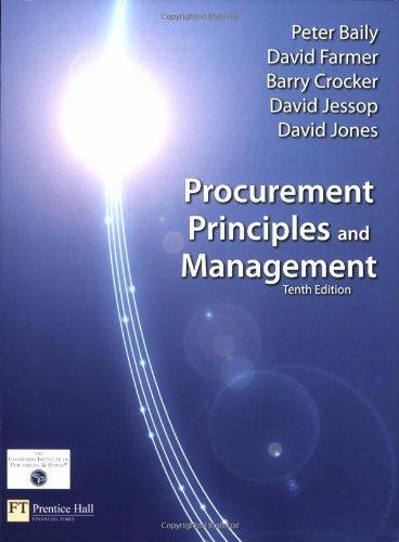 9780273713791: Procurement, Principles & Management