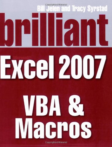 9780273714057: Brilliant Microsoft Excel 2007 VBA and Macros (Brilliant Excel Solutions)