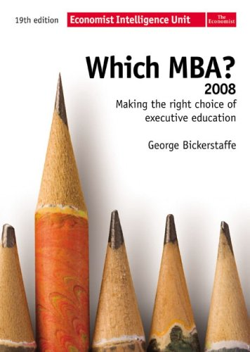 9780273714415: Which MBA? 2008: Making the Right Choice of Executive Education