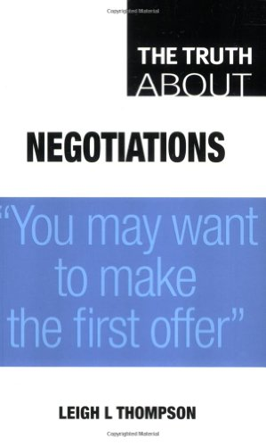 9780273715313: Truth About Negotiations: