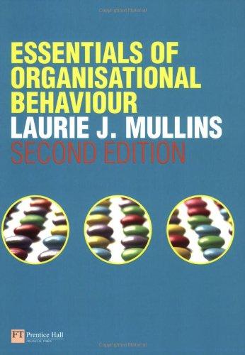 9780273716464: Essentials of Organisational Behaviour