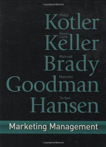 9780273718567: Marketing Management:First European Edition