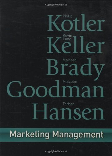 9780273718567: Marketing Management: First European Edition