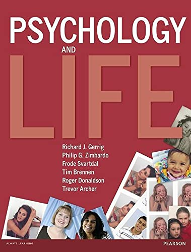 9780273720027: Psychology and Life. Roger Donaldson ... [Et Al.]