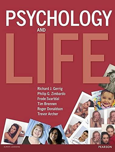 9780273720027: Psychology and Life. Roger Donaldson ... [Et Al.]