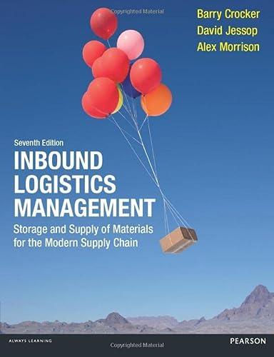 Inbound Logistics Management: Storage and Supply of: Barry Crocker; David